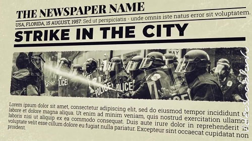 Newspaper Investigation 70904 - After Effects Templates