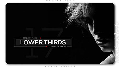 Modern Lower Thirds Pack 20876714 - Project for After Effects